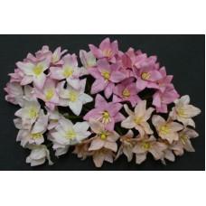 Лилия, розовые тона - 30мм (40шт.)