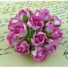 Дикая роза, бело-розовая - 20мм (50шт.)