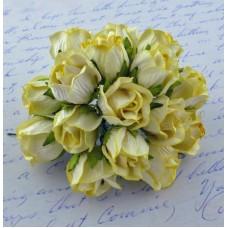 Дикая роза, бело-желтая - 20мм (50шт.)