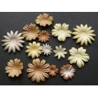 Цветочки плоские кремовые тона - 20-50мм (100шт.)
