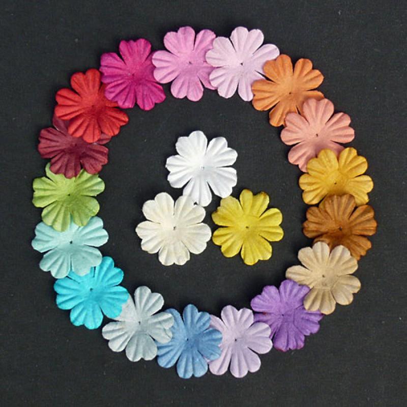 Как сделать плоский цветок своими руками