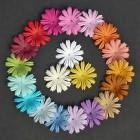 Цветочки плоские летние тона - 25мм (100шт.)