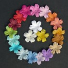Цветочки плоские летние тона - 27мм (100шт.)
