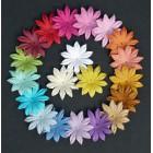 Цветочки плоские летние тона - 30мм (100шт.)