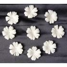 Цветочки  плоские белые - 30мм (100шт)