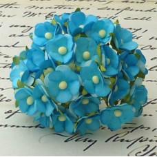 Цветочек бирюзовый - 15мм (100шт.)