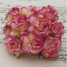 Дикая роза, тон розовый с шампанским - 40мм (50шт.)
