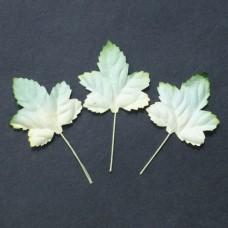 Лист клена бело-зеленый - 35мм (100шт.)