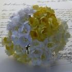Цветок вишни, белый/кремовый микс - 25мм (50шт.)