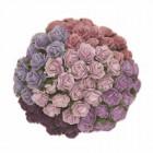Роза открытая, фиолетово-сиреневые тона - 10мм (100шт.)