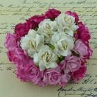 Дикая роза, тон бело-розовый - 30мм (50шт.)