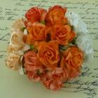 Дикая роза, тон персик/оранж./белый - 30мм (50шт.)