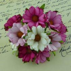 Хризантема, тон бело-розовый - 45мм (50шт.)