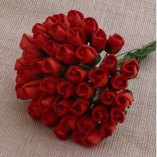 Роза бутоном красная - 4мм (100шт.)