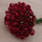 Роза бутоном темно-красная - 4мм (100шт.)