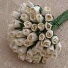 Роза бутоном слоновая кость насыщенная - 4мм (100шт.)