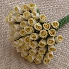 Роза бутоном кремовая - 6мм (50шт.)