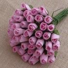 Роза бутоном нежно-розовая - 4мм (100шт.)