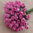 Роза бутоном розовая - 4мм (100шт.)