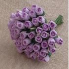 Роза бутоном лиловая - 4мм (100шт.)