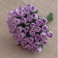 Роза бутоном лиловая - 8мм (50шт.)