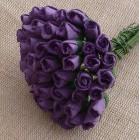 Роза бутоном пурпурная - 4мм (100шт.)