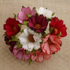 Хризантема, тон розово-красный – 45мм (50шт.)