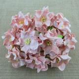 Гардения, цвет бледно розовый - 60мм (25шт.)