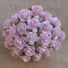 Роза открытая, тон бледно-розовый - 15мм (50шт.)