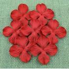 Цв. Гортензии плоские , красный цвет – 50мм (100шт.)