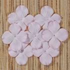 Цв. Гортензии плоские , тон дымчато-розовый – 25мм (100шт.)