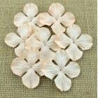 Цв. Гортензии плоские бледно персик.тона – 35мм (100шт.)