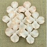 Цв. Гортензии плоские бледно персик.тона – 50мм (100шт.)