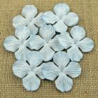 Цв. Гортензии плоские , бледно-голубой тон – 25мм (100шт.)
