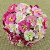 Цветок яблони, розовые тона - 25мм (50шт.)