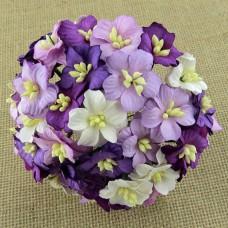 Цветок яблони, пурпурные тона - 25мм (50шт.)