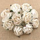 Английская роза, цвет белый - 30мм (25шт.)