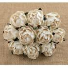 Английская роза, цвет слоновая кость - 30мм (25шт.)
