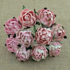 Английская роза, розовые тона - 30мм (25шт.)