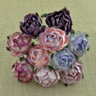 Английская роза, пурпурно-лиловые тона - 30мм (25шт.)