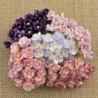 Цветочек мини, пурпурно-лиловые тона - 10мм (100шт.)