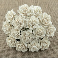 Роза Таскания, цвет слоновая кость - 35мм (20шт.)