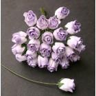Роза бутоном, цвет бело-сиреневый - 10мм (50шт.)