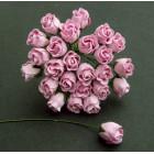 Роза бутоном, цвет бледно-розовый - 10мм (50шт.)