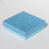 """Коробочка ювелирная """"квадрат"""", голубая, 9*9*2,5"""