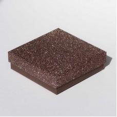 """Коробочка ювелирная """"квадрат"""", коричневая, 9*9*2,5"""