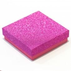 """Коробочка ювелирная """"квадрат"""", розовая, 9*9*2,5"""