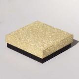 "Коробочка ювелирная ""квадрат"", золото, 9*9*2,5"