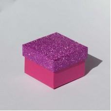 """Коробочка ювелирная """"квадрат"""", розовая, 5*5*3,5"""