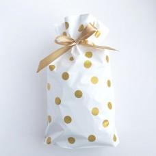 Пакет, пластиковый, золото, 10шт, 23,5*17,5*15